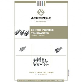 Catalogue Contre pointes tournantes